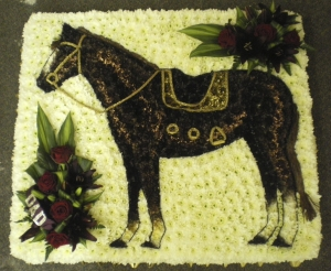 Horse Floral Tribute