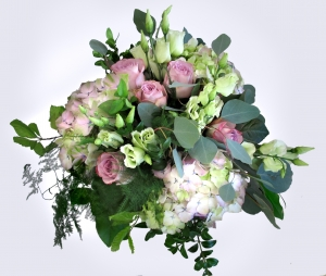Hydrengea And Rose Bouquet