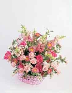 Large Pastel Basket Centerpiece