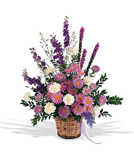 Lavender And White Sympathy Tribute #1862T