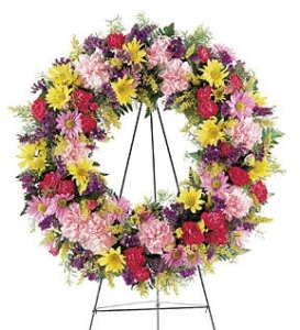 Life's Tribute Sympathy Wreath #1898T