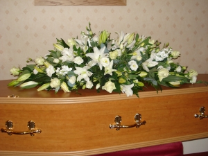Lily And Rose Casket Spray (4ft)