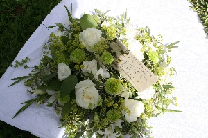 Loose Greens And Whites Posy