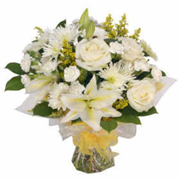 Luxury White Hand Tied Bouquet