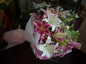 Mixed Colour Lily Bouquet