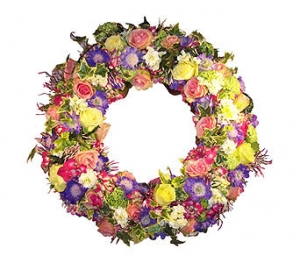 Mixed Coloured Wreath
