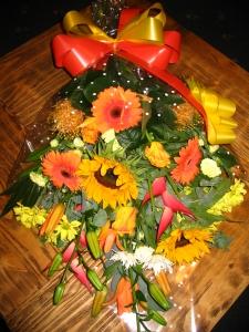 Modern Giftwrap Bouquet
