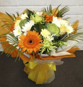 Orange And Cream Hand Tied
