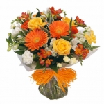 Orange Hand Tied Bouquet