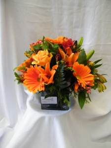 Orange Posie Bowl