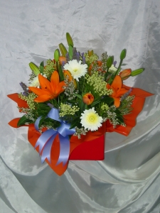 Orange,purple And Red Box Arrangement