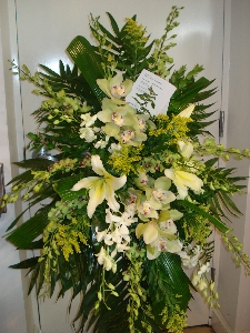 Orchid And Oriental Lily Standing Spray