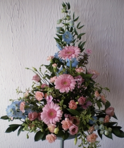 Pastel Pink And Blue Arrangement