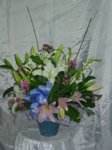 Pastel Pot Arrangement