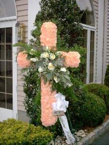 Peaceful Peach Cross Tribute