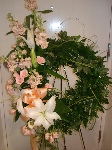 Peach And Pink Wreath