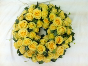 Peach Rose Wreath