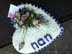 Personalised Funeral Heart Tribute