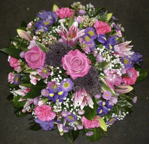 Pink And Mauve Funeral Posy