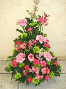Pink Explosion Funeral Arrangement