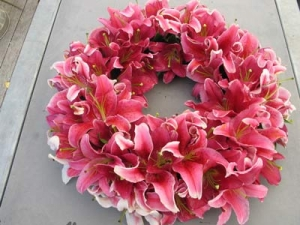 Pink Oriental Wreath