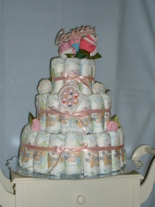 Pretty In Pink Baby Cake