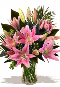 Pretty In Pink Lily Bouquet