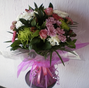 Pretty Pink And White Hand Tied