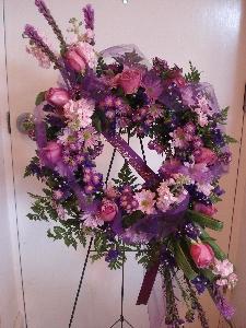 Purple And Lavender Wreath