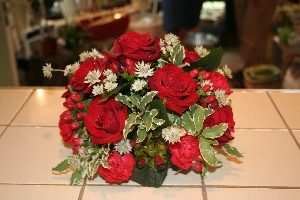 Red Rose Posy Pad