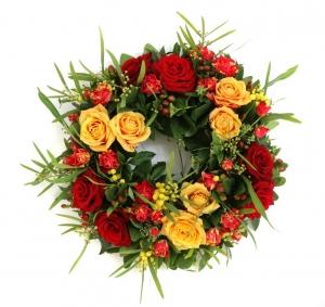 Red&orange Funeral Wreath