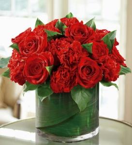 Rose And Carnation Swirl