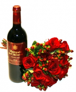 Roses With Wine