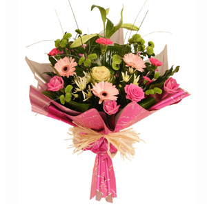Seasonal Bouquet In Pinks
