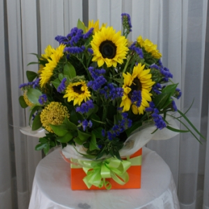 Seasonal Bright Box Arrangement