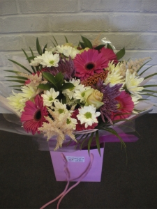 Serena Pink And White Hand Tied