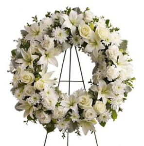 Serenity Funeral Flowers Wreath #TW534