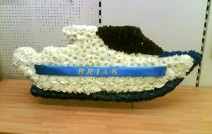 Speedboat Floral Tribute