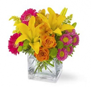 Splash Of Color Flowers Bouquet #TW192