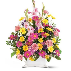 Spring Colors Funeral Flowers #1861T