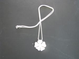 Stirling Silver 4 Leaf Clover Necklace