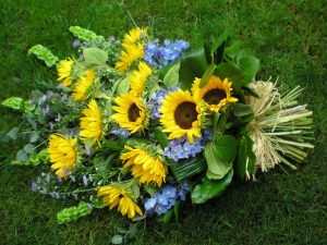 Sunflower Tied Funeral Sheaf