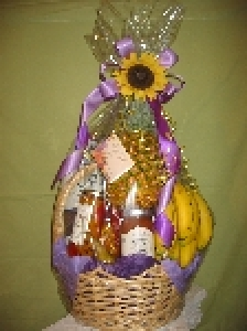 Sunflower Tower Gift Basket