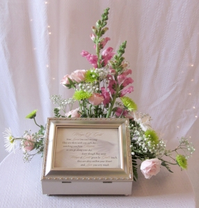 Sympathy Arrangement With Gift Memory Box