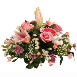 Table Posy In Pinks