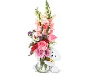 Teddy Bear Bud Vase