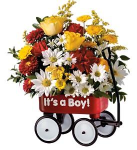 Teleflora's Baby's First Wagon - Boy