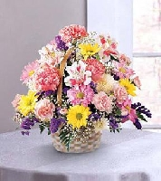 The FTD Basket Of Cheer Bouquet