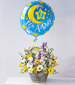 The It's A Boy Basket With A Balloon