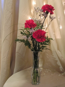 Three Carnations Arrangement